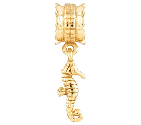 Prerogatives 14K Yellow Gold-Plated Sterling Seahorse Bead