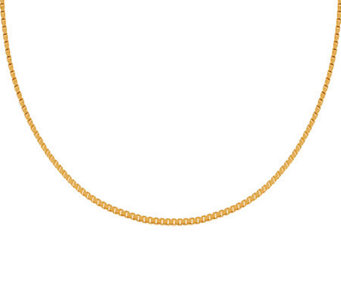 "Veronese 18K Clad 18"" Polished Box Chain - J304679"