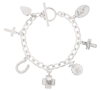 "Shawn's ""Courage Charms"" Sterling 6-3/4"" Bracelet, 31.9g - J318379"