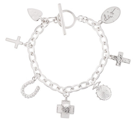 "Shawn's ""Courage Charms"" Sterling 6-3/4"" Bracelet, 31.9g"