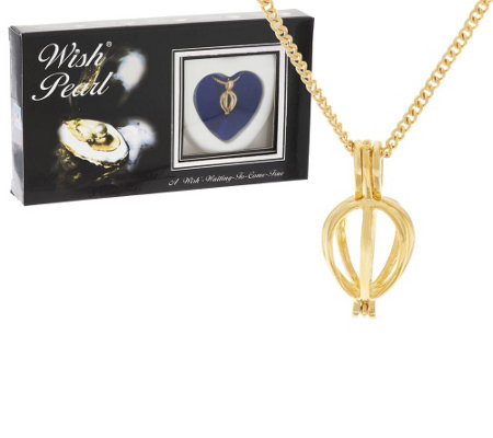 Wish Pearl Cultured Pearl Heart Pendant w/ Chain