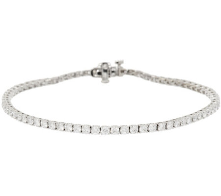 """As Is"" 8"" Diamond Tennis Bracelet, 18K, 3.30 cttw by Affinity"