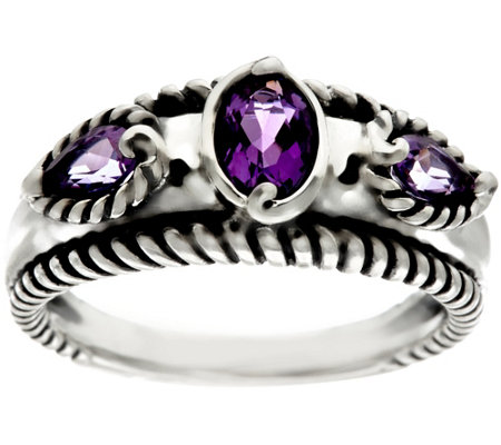 Carolyn Pollack Sterling Silver Gemstone Band Ring
