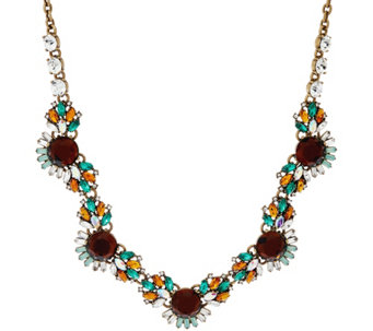 LOGO Links by Lori Goldstein Sunburst Vintage Style Necklace - J330179