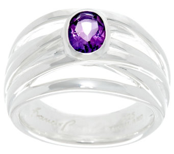 Franco P Sterling 0.60 cttw Oval Amethyst Infinity Ring - J330279