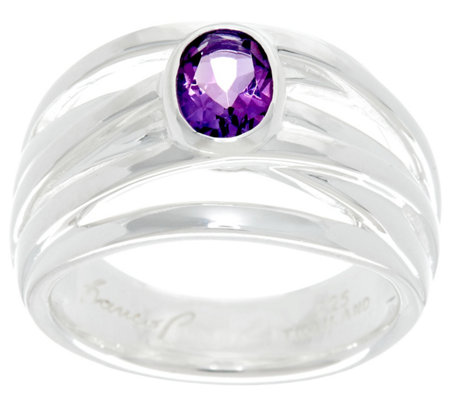 Franco P Sterling 0.60 cttw Oval Amethyst Infinity Ring