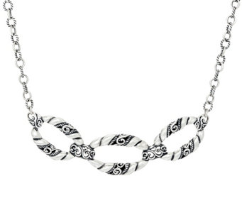 Carolyn Pollack Sterling Silver Signature Link Statement Necklace 30.0g - J330779