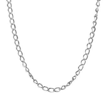 "Sterling 22"" Antiqued Cable Chain Necklace, by American West - J338979"