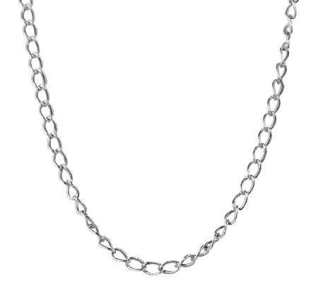 "Sterling 22"" Antiqued Cable Chain Necklace, by American West"