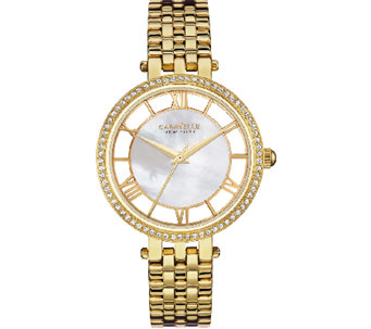 Caravelle New York Women's Goldtone Crystal Bracelet Watch - J339779