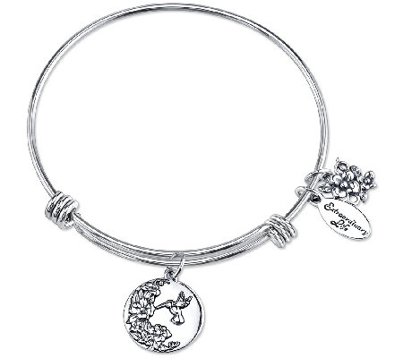 Extraordinary Life Sterling Nature Adjustable Bangle