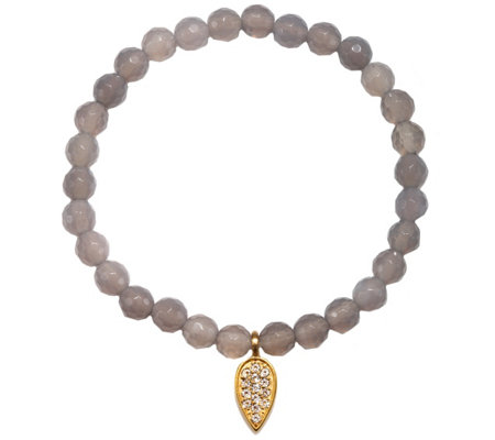 Satya Lotus Petal Gemstone Stretch Bracelet