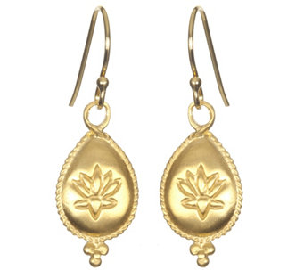 Satya Lotus Flower Dangle Earrings - J342879