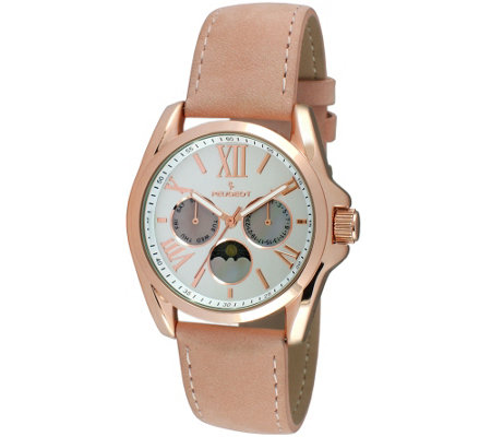 Peugeot Women's Rosetone Multi-Function Watch