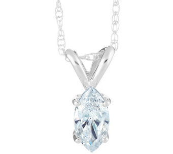 Marquise Diamond Pendant, 14K White Gold, 3/4 ct, by Affinity - J345279
