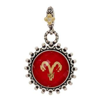 Barbara Bixby Sterling & 18K Astrology Charm w/ Gemstone Charm