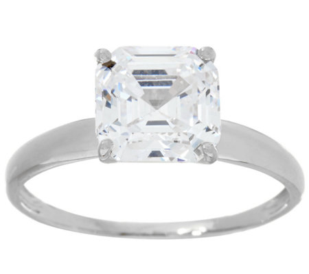 diamonique 3 00 cttw solitaire ring 14k white gold page