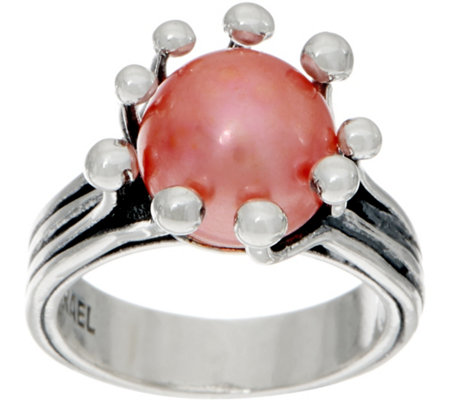 Or Paz Sterling Silver Cultured Pearl Ring