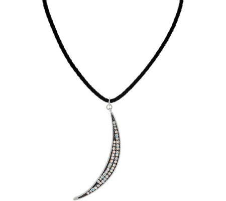 Kirks Folly Astral Moon Shimmer Cord Necklace