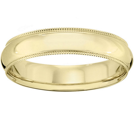Men's 14K Yellow Gold 5mm Milgrain Wedding Band