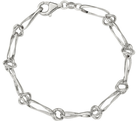 Sterling Knotted Bracelet, 7.5g by Silver Style