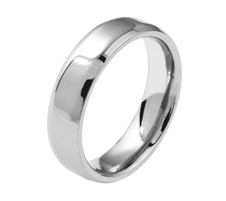 Titanium Beveled Edge 8mm Polished Ring