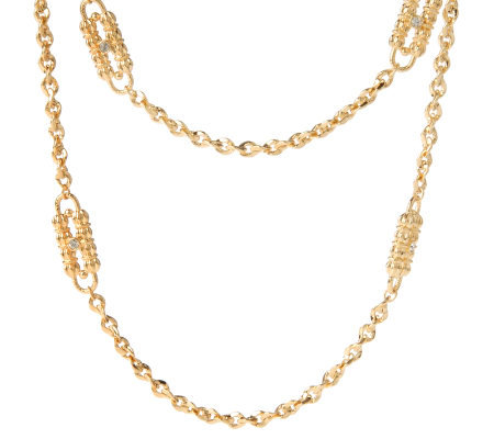 Jacqueline Kennedy Goldtone Paperclip Necklace