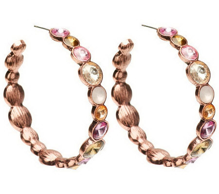 Dazzling Faceted Siren Hoop Earrings