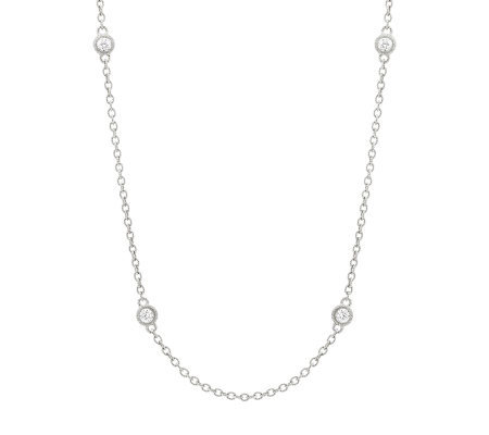 "Judith Ripka Sterling 18"" 100-Facet Diamonique Necklace"