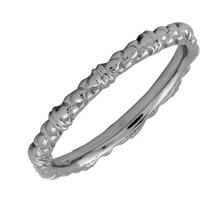Simply Stacks Sterling Black Rhodium-Plated 2.25mm Cable Ring