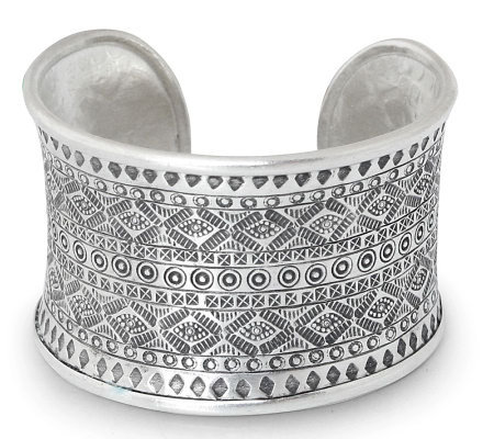 "Novica Artisan Crafted Sterling ""Mountain Reflection"" Cuff"