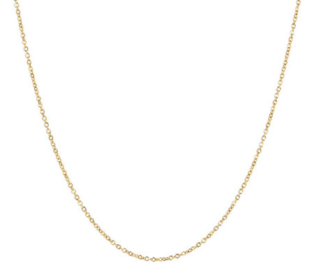 "Milor 20"" Fine Polished Oval Rolo Link Chain,14 K Gold"