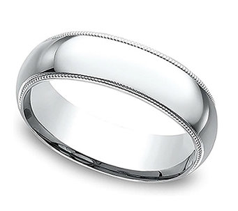 Sterling Silver Milgrain 5MM Unisex Wedding B and Ring - J309980