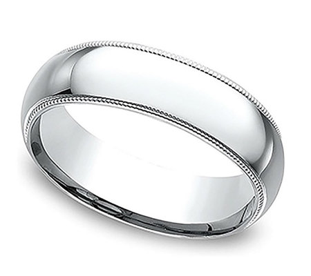 Sterling Silver Milgrain 5MM Unisex Wedding B and Ring