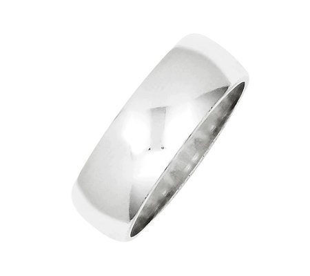 Sterling 7mm Polished Half-Round Ring