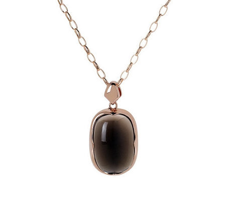 Bronzo Italia Polished Cushion-Cut Cabochon Pendant with Chai