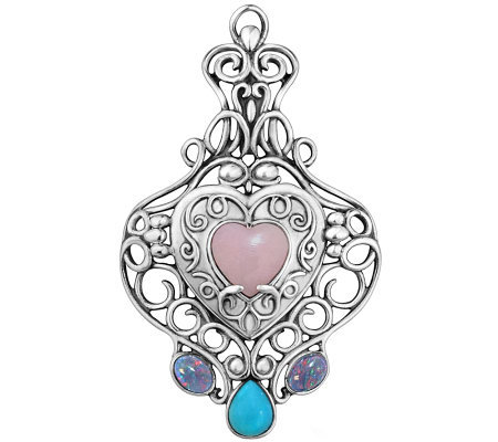 Carolyn Pollack Sterling Heart Locket EnhancerLocket