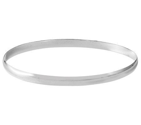 Sterling Polished Small Round Bangle