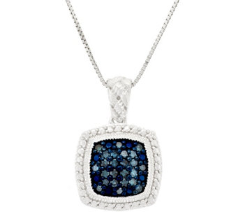 Pave' Color Diamond Braided Pendant w/ Chain, 1/4ct by Affinity - J317480