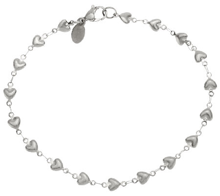 Stainless Steel Heart Strand Ankle Bracelet