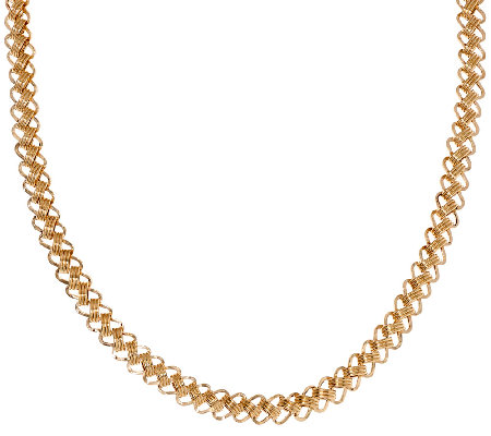 "14K Gold 18"" Diagonal Triple Oval Link Necklace,"