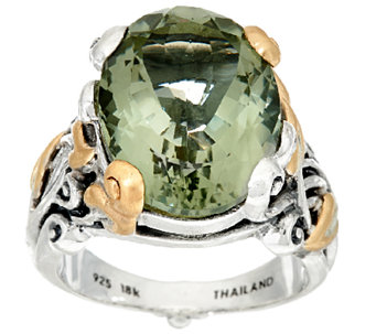 Barbara Bixby Sterling & 18K 10.0 ct Gemstone Vine Ring - J323380