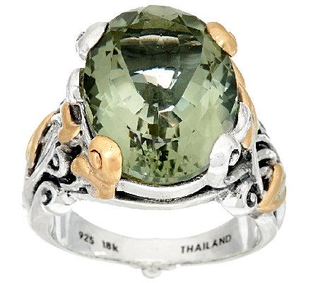 Barbara Bixby Sterling Amp 18k 10 0 Ct Gemstone Vine Ring