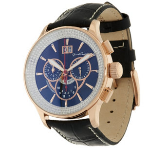 """As Is"" Bronzo Italia Crystal Dial Chronograph Watch - J326680"