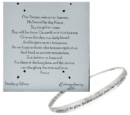 Sterling Twist Prayer Avg. Bangle by Extraordinary Life