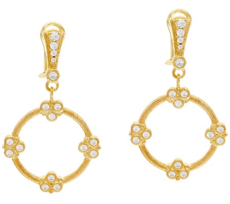 Judith Ripka 14K Clad Diamonique Garland Drop Earrings