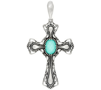 Carolyn Pollack Sterling Silver Signature Gemstone Cross Enhancer - J329580