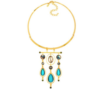 LOGO Links by Lori Goldstein Chandelier Collar Necklace - J330180