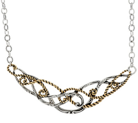 Carolyn Pollack Sterling Silver & Brass Signature Necklace