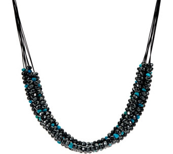 Hematite & Turquoise Bead 10 Strand Necklace by American West - J332180